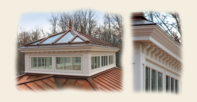 A Copper Clad Colonial Roof Lantern by Renaissance Conservatories