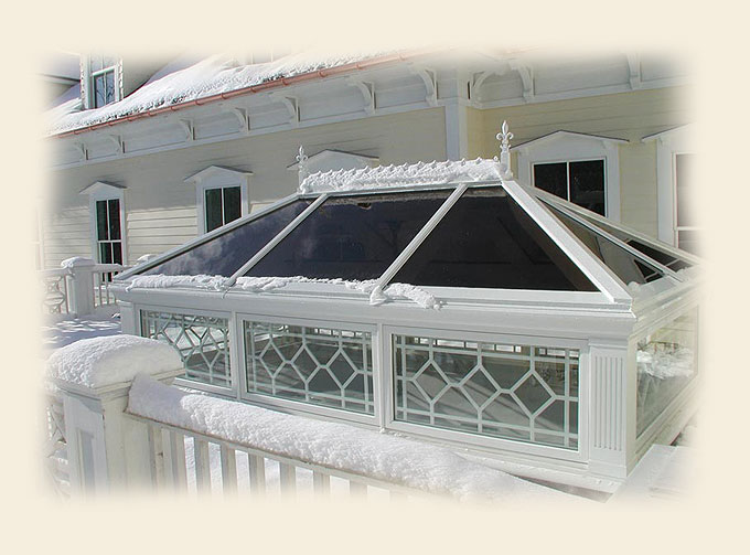 A Glass Roof Lantern by Renaissance Conservatories