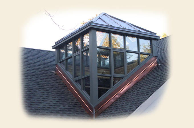 A Glass Roof Dormer with a Hipped Glass Roof by Renaissance Conservatories