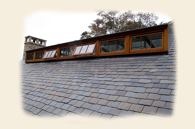 A Glass Roof Dormer Ridge Skylight by Renaissance Conservatories
