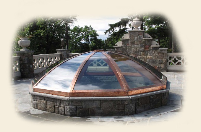 Custom Flat Glass Dome