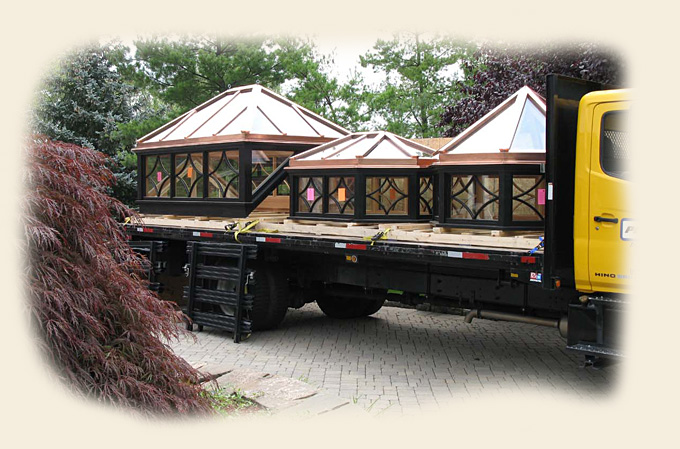 3 Copper Metal Clad Glass Roof Cupolas by Renaissance Conservaories